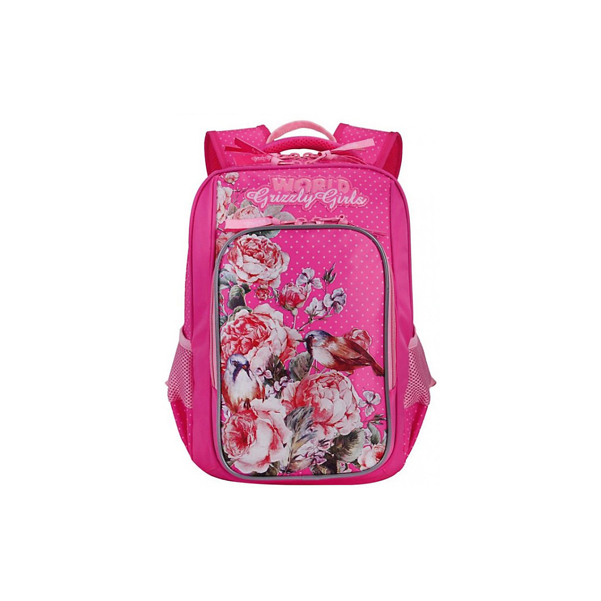 School Bags GRIZZLY 8333898 Schoolbag Backpack Orthopedic Bag For Boy And Girl Animals Flowers MTpromo
