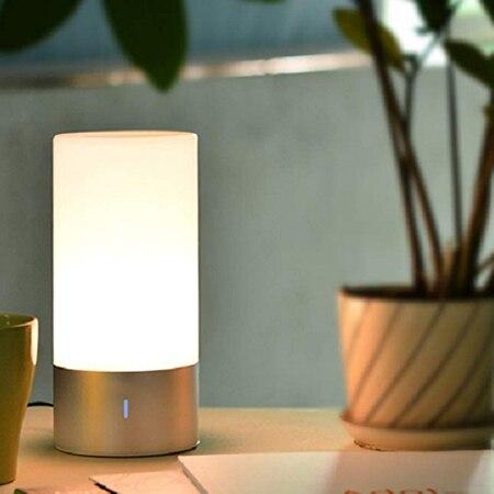 Lampe de chevet de haut-parleur de Bluetooth de 6 w/3 w Dimmable Rgbw 16 millions de couleur/360-degrés détectant les veilleuses intelligentes pour la chambre à coucher