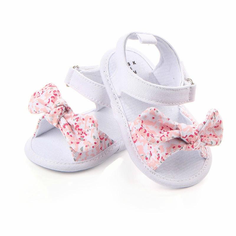MAYA STEPAN 1 Pair Children Baby Kids Boys Girls Shoes Non-Slip Canvas Bowknot Toddlers Newborn Infantil Sandals 1
