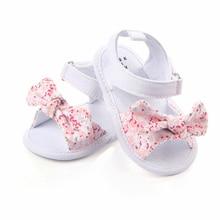 MAYA STEPAN 1 par niños bebé niños niñas zapatos antideslizantes de lona Bowknot niños pequeños recién nacidos sandalias infantiles