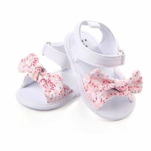 MAYA STEPAN 1 Pair Children Baby Kids Boys Girls Shoes Non-Slip Canvas Bowknot Toddlers Newborn Infantil Sandals(China)