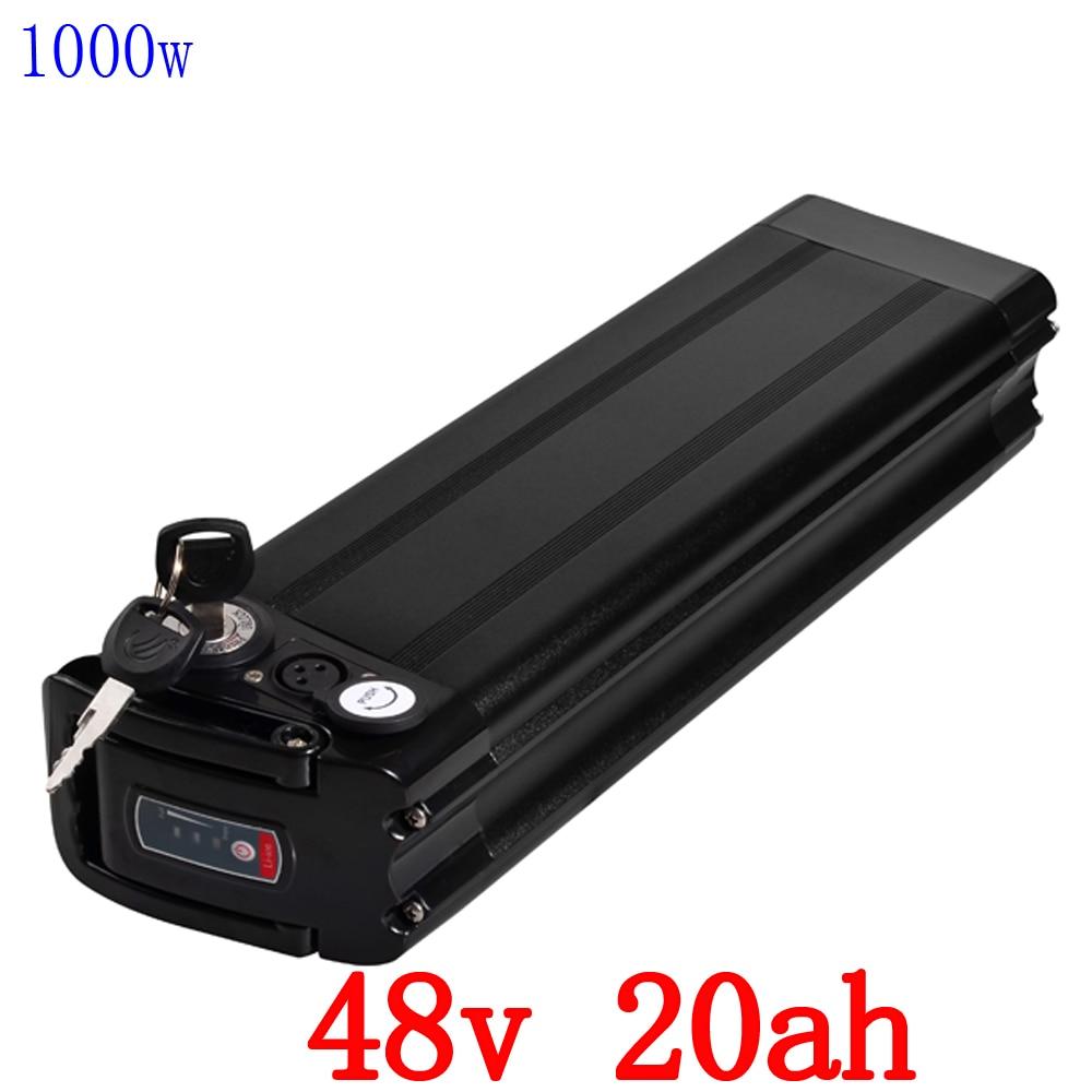 V 1000 w bateria 48 48 v 48 v 20ah 20ah bicicleta elétrica da bateria de lítio uso da bateria LG celular com BMS e carregador 54.6 v 2A 30A