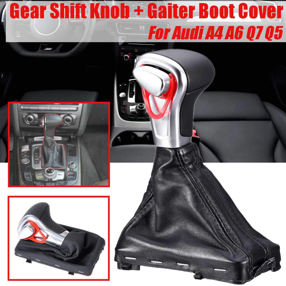 Gaiter Boot Cover DSG S-Tronic for B8 A4 A5 Q5 2009-2016 8KD 713 139B AOE Shift Knob Gaiter Boot,Gear Shift Stick Knob