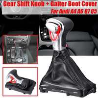 8KD713139B 1 Pcs LHD Gear Shift Knob Head Stick With Gaiter Boot Cover Car For Audi A3 A4 A6 Q5 Q7 2004 2015 Replacement
