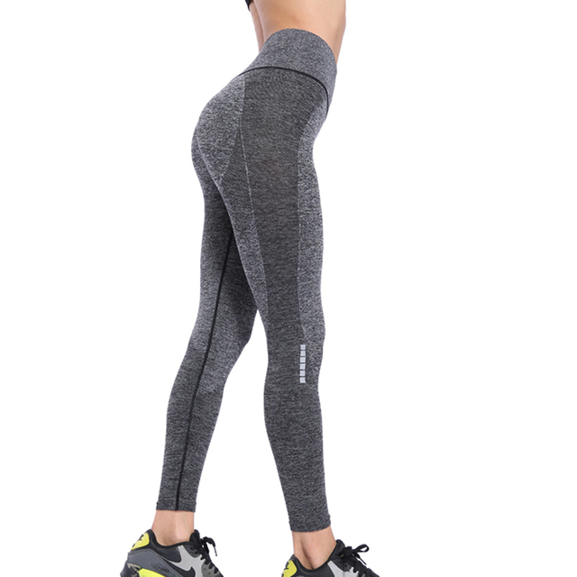 Binand High Waist Gym Leggings Sport Women Fitness Yoga Pants Sports Tights Woman Push Up Elastic Seamless Leggings 2019 News by Binand