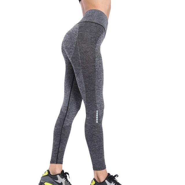 Binand גבוהה מותניים כושר חותלות ספורט נשים כושר יוגה מכנסיים ספורט גרביונים אישה לדחוף למעלה אלסטי חלקה חותלות 2019 חדשות