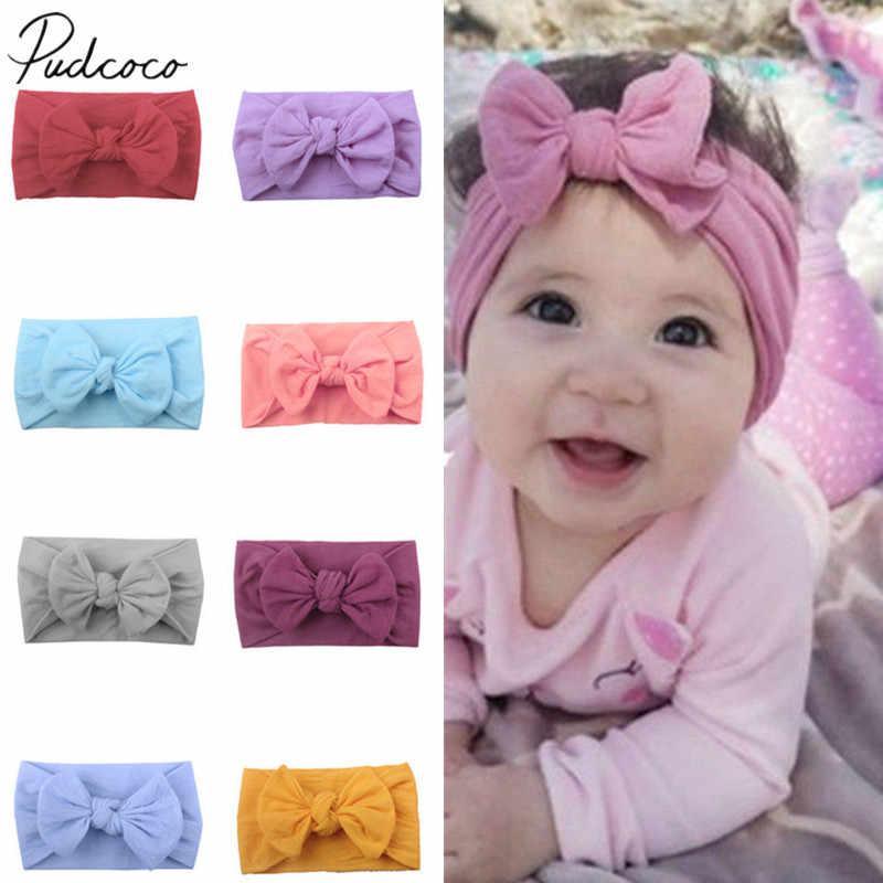 2019 ใหม่น่ารักเด็กทารกเด็กวัยหัดเดิน Bow Headband Solid Hairbands อุปกรณ์เสริม Headwear Head Wrap Big Bow Photo Props ของขวัญ