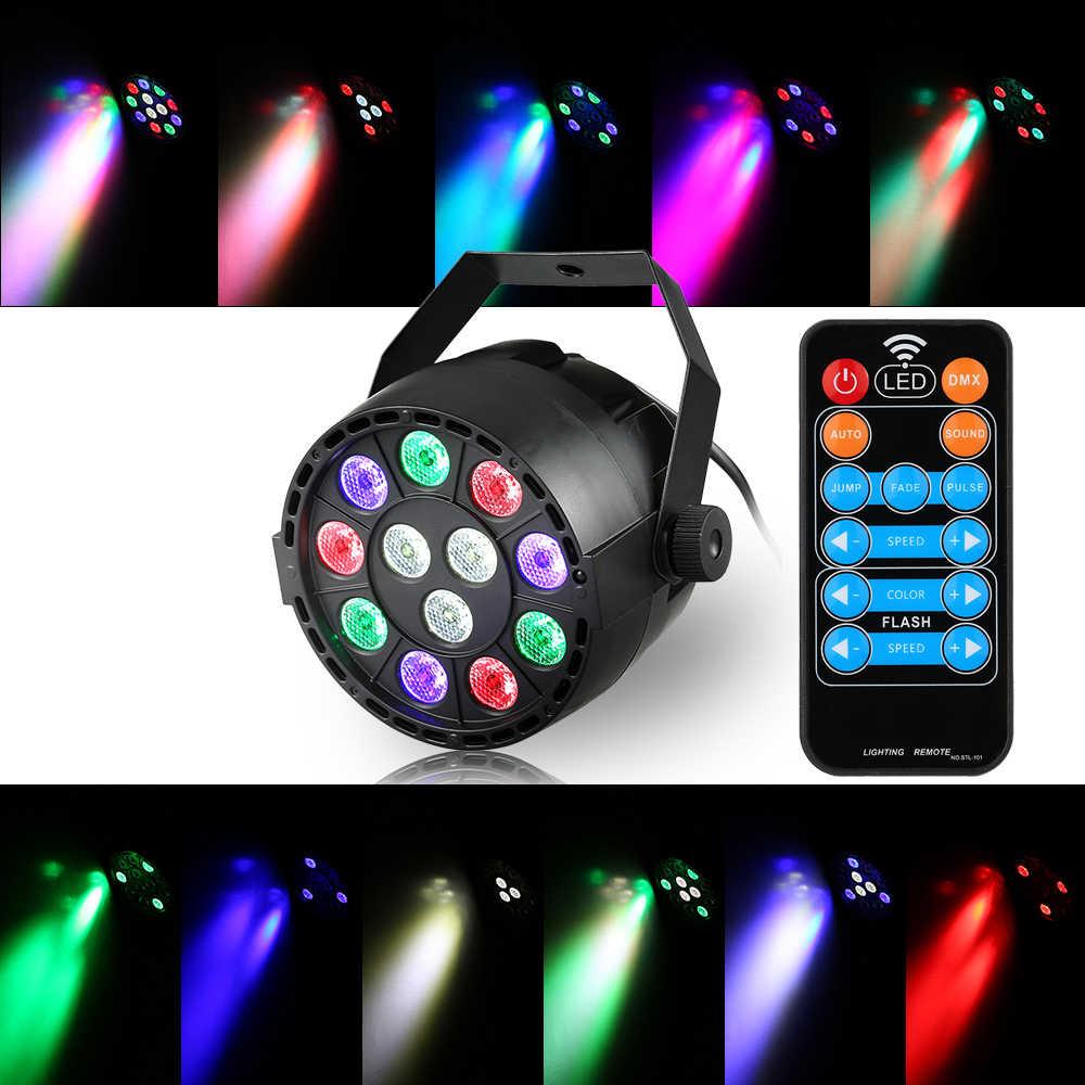 2019 новый стиль 12 Светодиодный сценический par-прожектор 20 Вт светодиодный RGBW DMX 512 Мечта Цвет свет для клуба DJ шоу Дома вечерние бальные полосы RGBW