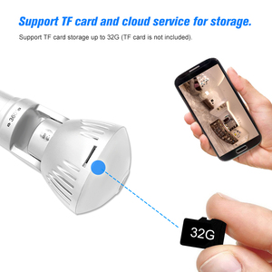 Image 4 - 960 P/1080 P 200W Bóng Đèn Camera IP 360 Độ Toàn Cảnh Wifi Không Dây Tầm Nhìn Ban Đêm P2P Cam phát Hiện Chuyển Động Bé Thú Cưng Camera
