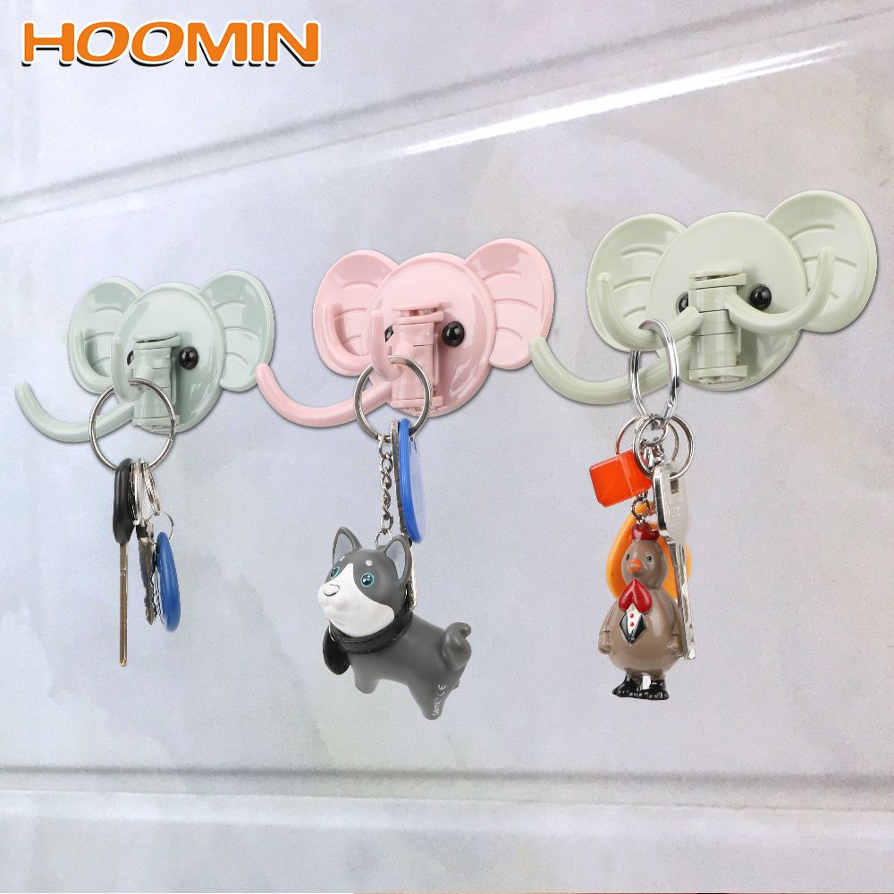 Hanger Holder Hooks Multifunction Elephant Stick On Wall Adhesive Hooks Sticking Hook Strong Hanging Bathroom Kitchen Storage