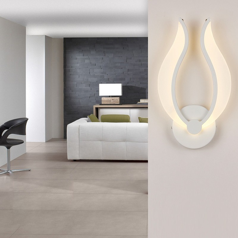 D560a0f14a Led Wall Lamps Acrylic Material White Color For Bedroom Bedside Light Indoor Kitchen