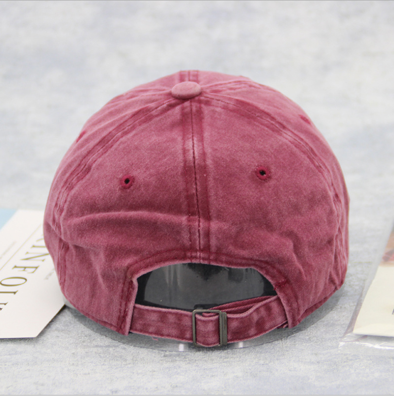 High Quality Washed Cotton Adjustable Solid Color Baseball Cap Unisex Couple Cap Fashion Hat Snapback Cap in Women 39 s Baseball Caps from Apparel Accessories