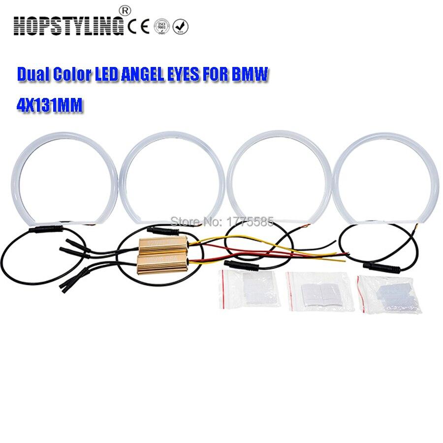 1 SET (4 * 131mm) xenon White Cotton light SMD LED Angel ögon för - Bilbelysning - Foto 3