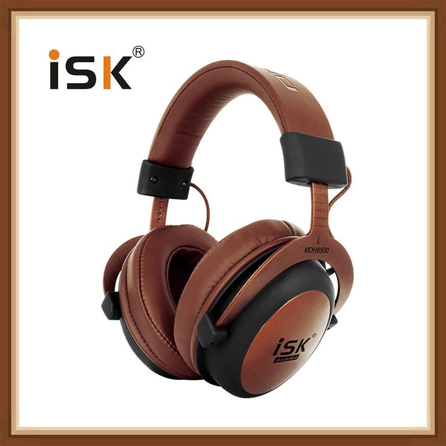 ISK MDH8500 Professional Monitoring Headphones Fully Enclosed Dynamic Noise Canceling Stereo Earphone Headset Studio Headphones image