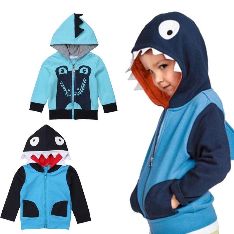 1-6y Kinder Jungen Mädchen Hoodies 3d Monster Cartoon Tier Mit Kapuze Lange Hülse Baumwolle Kleinkind Sweatshirt