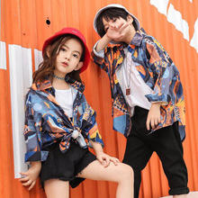 Kids Hip Hop printing Clothing for Girls Boys Sweatshirt Jogger Pants Jazz Dance Costumes Set Ballroom Dancing Clothes Outfits boys modern jazz dancewear outfits kids hip hop party ballroom dance costumes sweatpants hoodie costumes tracksuit outfits
