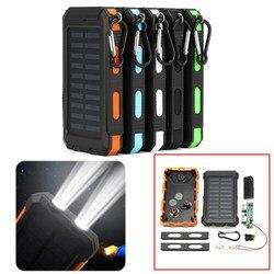 Bakeey DIY 20000 мАч двойной USB DIY чехол на солнечной батарее комплект со светодиодной подсветкой водонепроницаемый ящик для хранения батарей diy