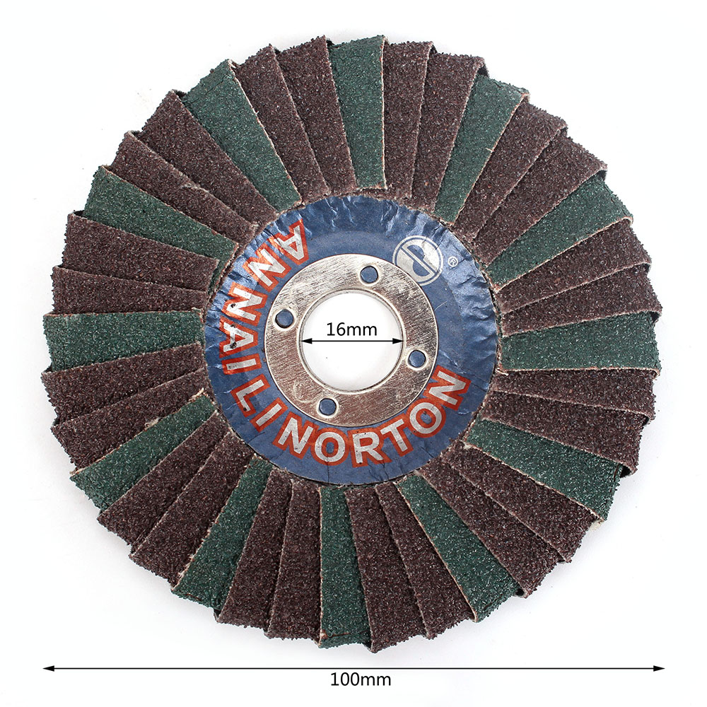 Radial Shape Abrasive Flap Disc 4' Abrasive Flap Disc, Round Hole, Phenolic Resin Backing, Zirconia Alumina,5Pcs