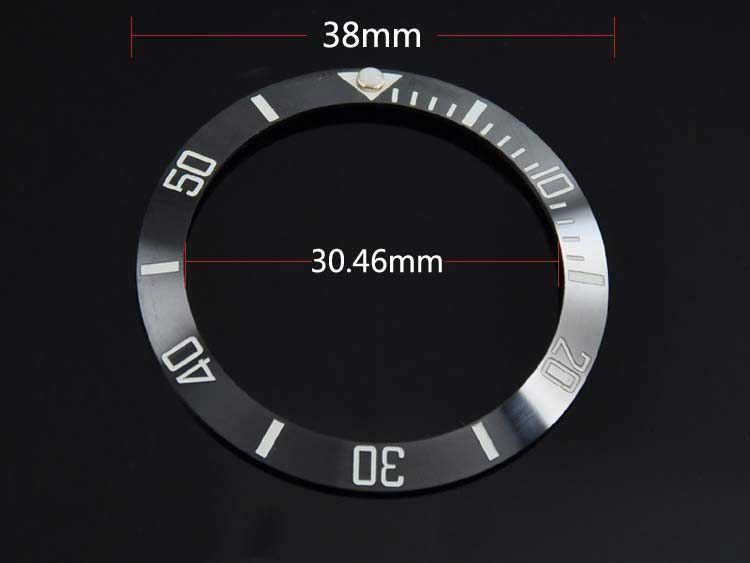 38mm Black ceramic bezel insert fit SUB Automatic watch men's watch made by BLIGER factory BB1 Watch Faces     -