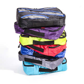 """QIUYIN New Breathable Travel Bag 5 Set Packing Cubes Luggage Packing Organizers Weekend Bag Shoe Bag Fit 23\"""" Carry on Suitcase"""