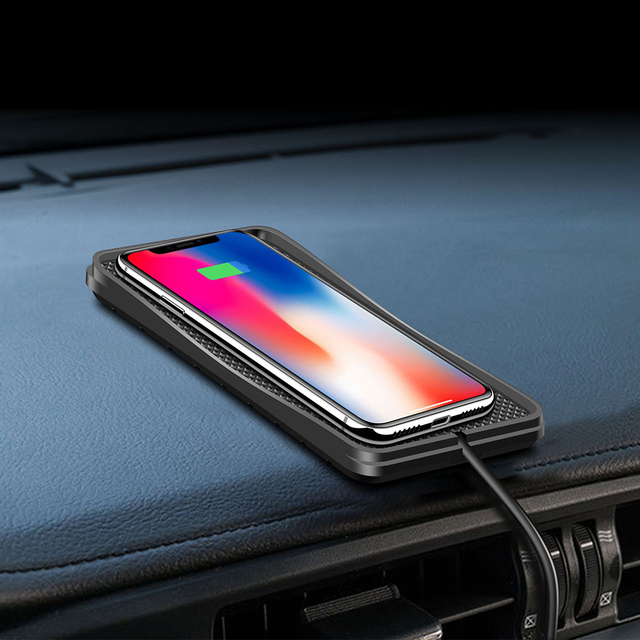 New Car Wireless Charger Wireless Car Charging QI Wireless Charging Pad Charger Station for iPhone Samsung