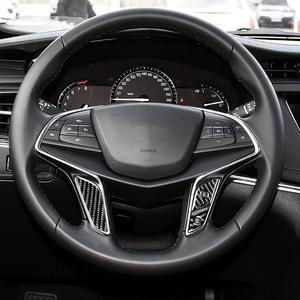 Image 4 - VODOOL Phụ Kiện Ô Tô Sợi Carbon Bọc Vô Lăng Nút Bọc Viền Dán Xe Ô Tô Tạo Kiểu Cho Cadillac XT5 Xe Ô Tô