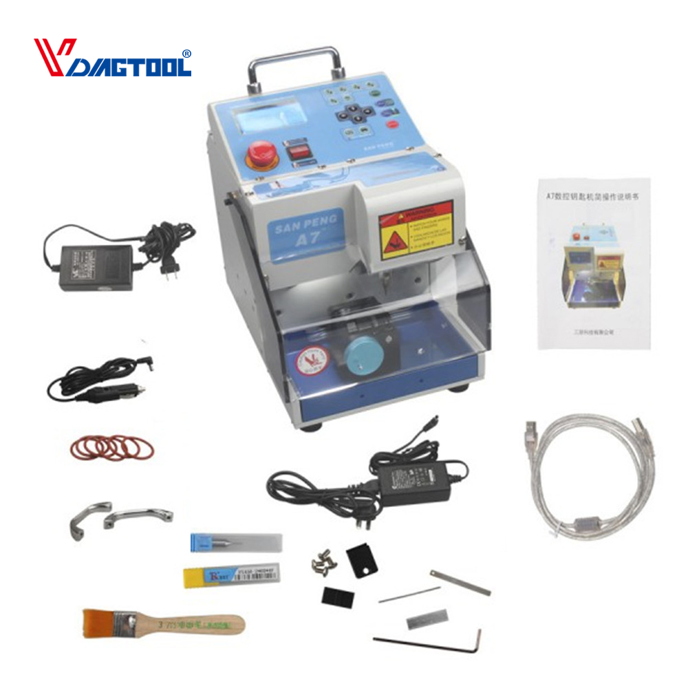VDIAGTOOL Automatic Electronic MIRACLE A7 Key Cutting Machine MIRACLE A7 Car Key