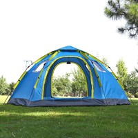 6 8 Person Quick Opening Automatic Big Camping Tent 2 Door 4 Window Anti UV Mongolian Yurt Tent Large Outdoor Family Travel Tent