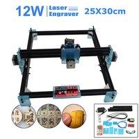 DIY 12W Mini CNC Laser Engraving Machine Laser Cutting Machine 63*51*25cm Metal Engrave Printer Marking Machine Advanced Toys