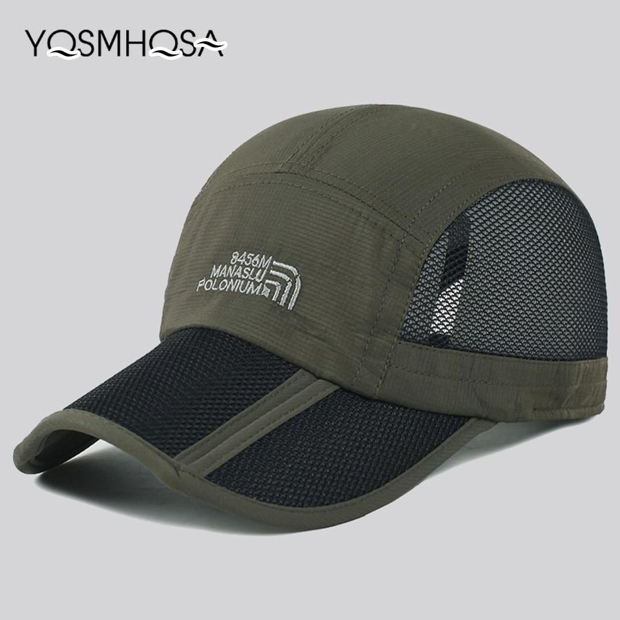 New Fashion Black Summer   Baseball     Cap   Sport Fishing Trucker   Cap   Quick-drying Mesh Breathable Sun Hat Unisex   Baseball   Hat WH071