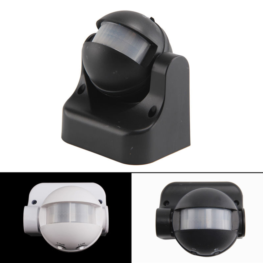180 Degree Auto PIR Motion Sensor Detector Switch 220V/AC-240V/AC Security Lighting Lamp Switch For Garden Outdoor White / Black