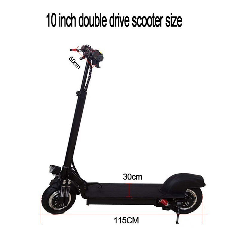 10-inch Off Road Electric <font><b>Scooter</b></font> Adult 48V <font><b>1000W</b></font> Strong powerful new Foldable Electric Bicycle <font><b>scooter</b></font> image