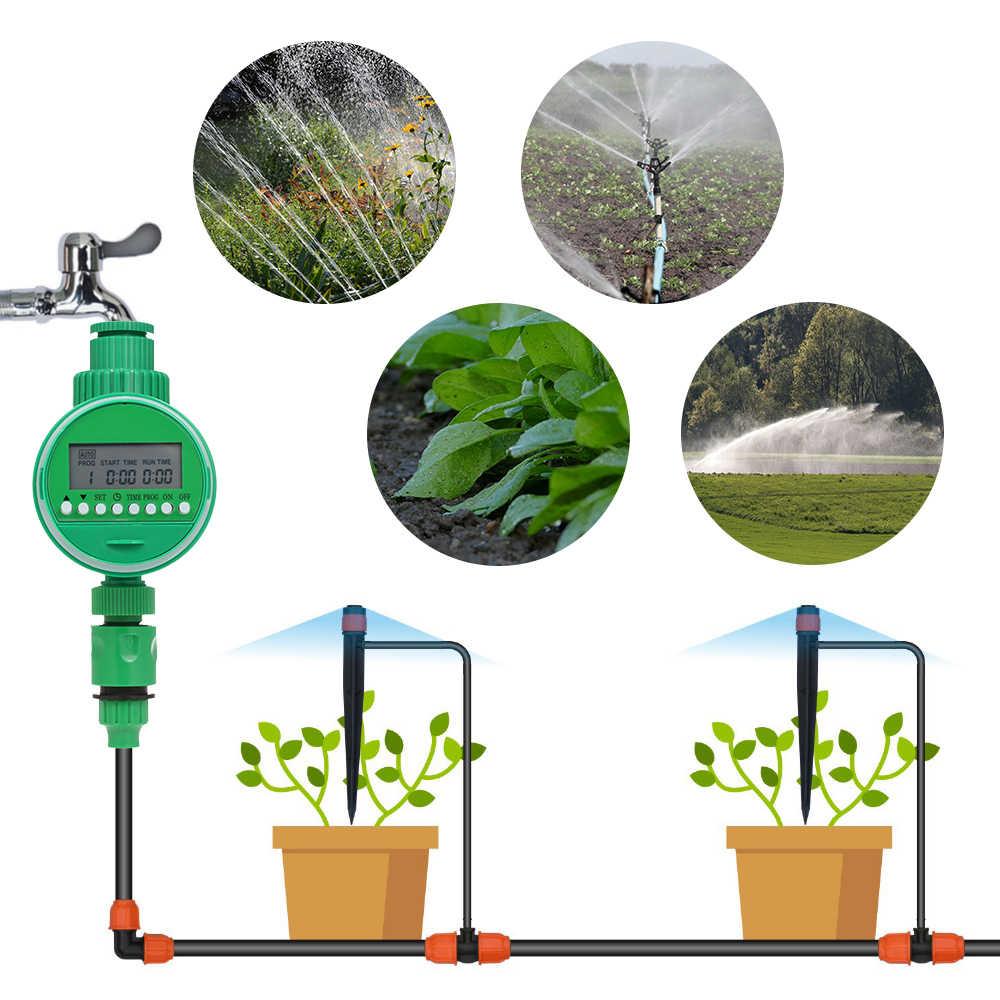 Sistem Irigasi Taman Penyiraman Sistem Selang Keran Timer dengan Sensor Hujan Tap Automatic Wirless Pengatur Waktu Air Yang Dioperasikan dengan Baterai
