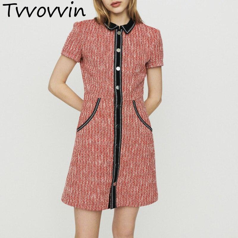2019 Fashion Sexy Womens European Dress Stripe A Line Vintage Woman Dresses Knitting Temperament AS065