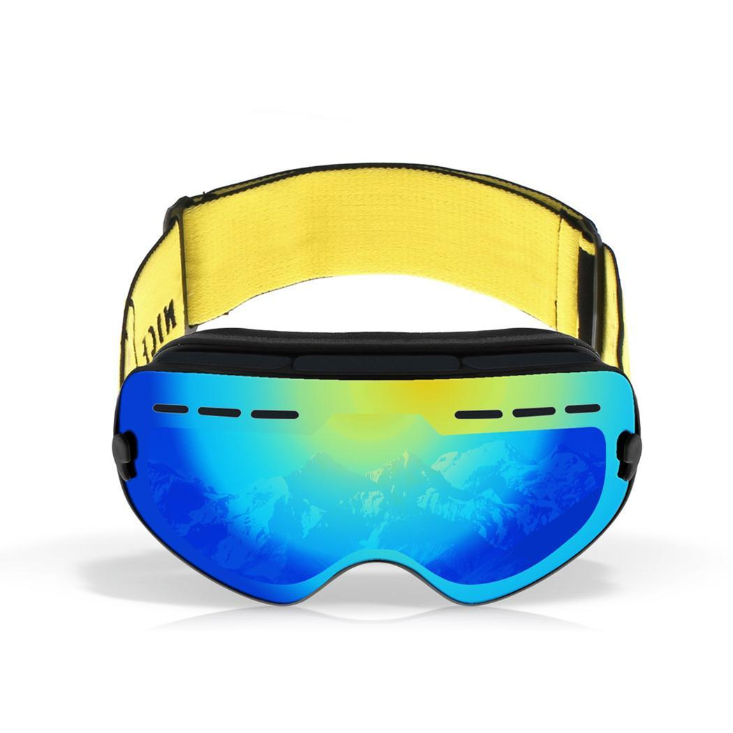 Search For Flights Ski Snowboard Snowmobile Frameless Goggles Magnet Snow-3101 Lens 95mm 230mm 2 Pcs Lens Uv400 Protection Pure Whiteness