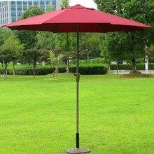 2,7 м Открытый Патио зонт 8 костей стальной каркас складной(без основания