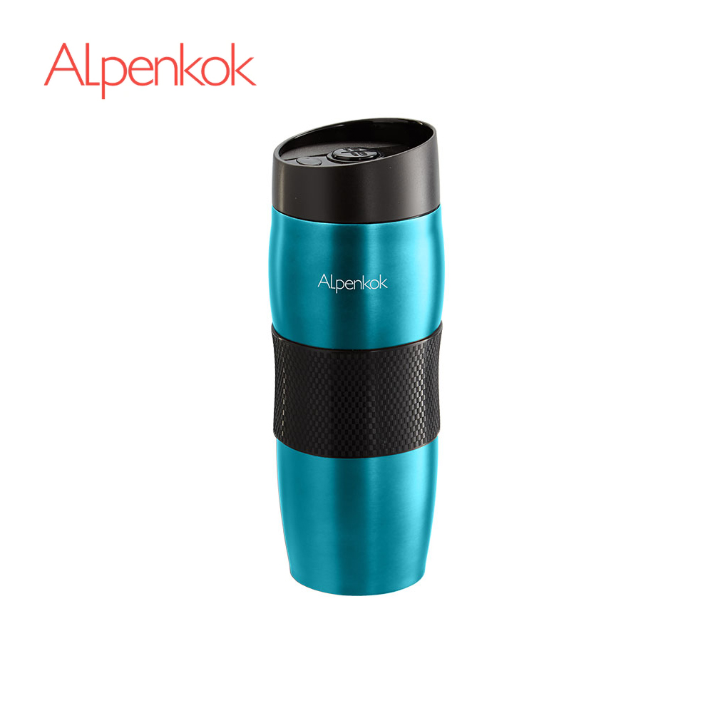 Vacuum Flasks & Thermoses Alpenkok AK-04035A thermomug thermos for tea Cup stainless steel water graceful stainless steel rhinestone ring jewelry for women