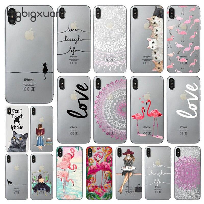 best service 2f938 f0628 Phone Case For Apple iPhone X Cute Cats Corky Flamingo Dreamcatcher ...