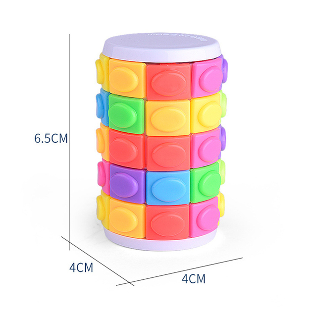 Colorful Magic Tower Cube Kids Toys 5 Dimensional Sliding 3D Puzzles Educational Toys for Children Adult Funny Anti-stress Gifts 5
