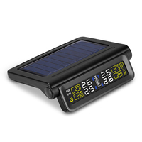 Careud Car Wireless Sensor Tpms Solar Tire Pressure Temperature Monitoring System Solar Energy Power Supply Usb Charging