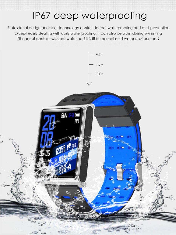 N98 Bracelet intelligent hommes Sport hommes montre maille acier Bracelet IP67 étanche moniteur de fréquence cardiaque Bluetooth pour Android/IOS