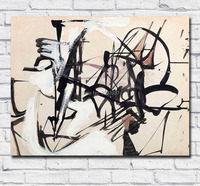 Free Shipping by DHL Oil Painting Franz Kline Untitled Wall Art Canvas Paintings Pictures for Living Room and Bedroom No Frames