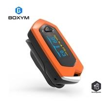 BOXYM медицинская перезаряжаемая палец пульсовой оксиметр с органическим светодиодом Оксиметр монитор сердечного ритма оксиметр de Dedo SpO2 Pulsioximetro