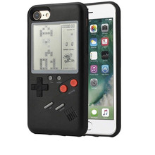 for iphone xs max retro Tetris Soft PC play Game stress reliever Gameboy phone case