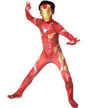 Iron Man Costume Kids Endgame Superhero Boys Cosplay Halloween For Carnival Party Suit Child