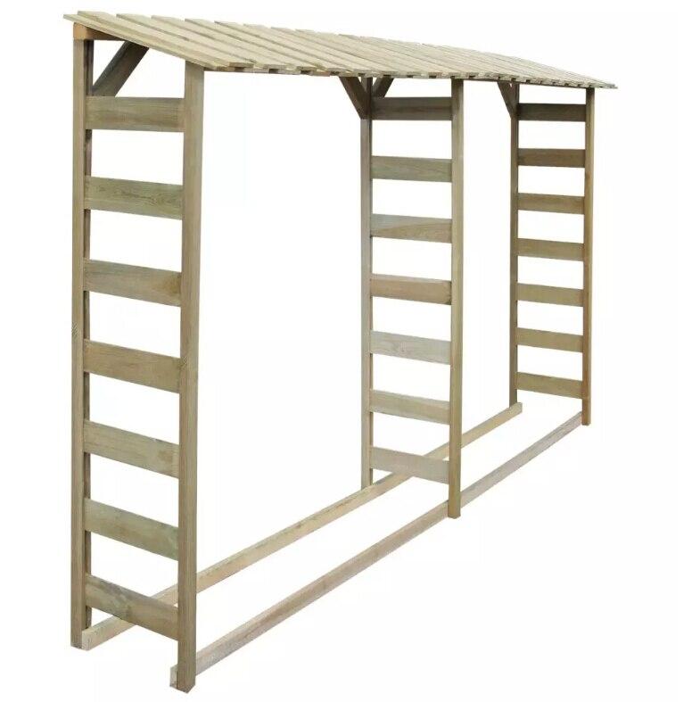 vidaXL Double Firewood Storage Shed 300x44x176 cm Impregnated Pinewood 42957vidaXL Double Firewood Storage Shed 300x44x176 cm Impregnated Pinewood 42957