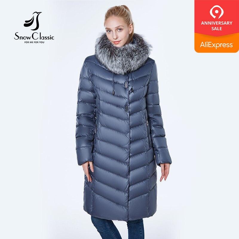 Nowa kurtka kobiety camperas mujer abrigo invierno 2018 płaszcz kobiety park plus rozmiar 6xl Silver fox fur Windproof gruby w Parki od Odzież damska na  Grupa 1
