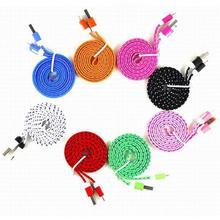 1m/2m/3m Mini V8 Connector 3FT Rope Micro USB Fast Charger Wire Charging Sync Data Cable Cord for Huawei Android цена и фото