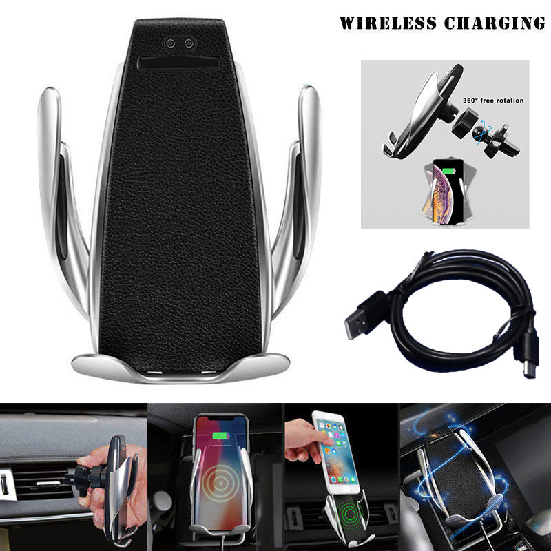 Automatic Clamping Wireless Car Charger Type C 10W Fast Charging Mount Holder Stand Clamp Smart Phone Charger Auto sensing New