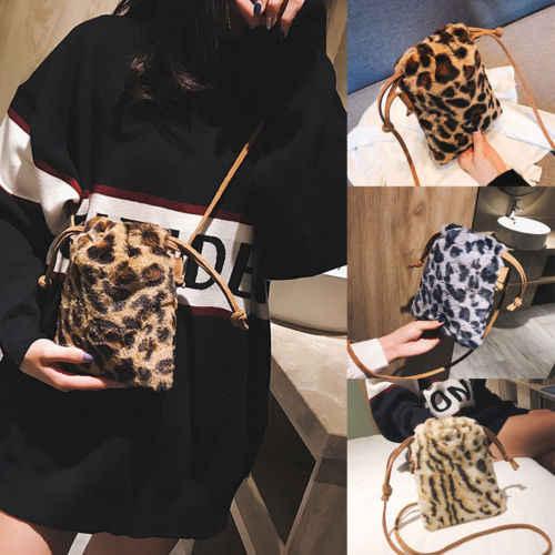 2019 mode sac à dos en peluche fille longue poignée doux Shopper épaule fourre-tout seau Hobo sac à main